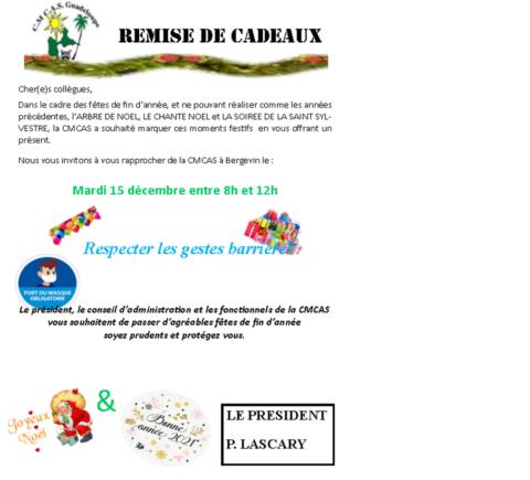 CADEAUX DE NOEL 2020